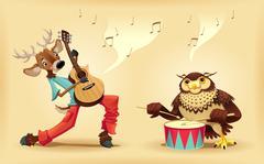 Musicians animals. - stock illustration