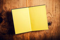 Open notebook with blank pages Stock Photos