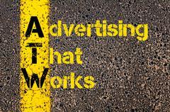 Advertising Business Acronym ATW Advertising That Works Stock Photos