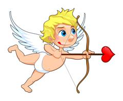 Stock Illustration of Funny Cupid.