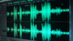 Waves audio sound editing Stock Footage