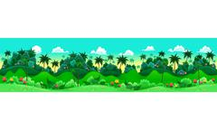 Stock Illustration of Green forest.