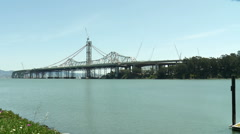 Oakland Bay Bridge Construction East Lockof Stock Footage