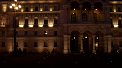 Trieste Piazza Grande by night Stock Footage