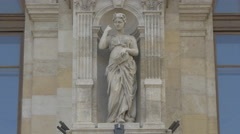 Woman statue placed on the Bucharest Court of Appeal  in Bucharest Stock Footage