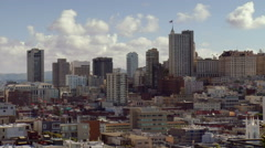 Nob Hill SF from Telegraph Hill Stock Footage