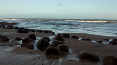 Bowling Ball Beach Dolly Out Stock Footage