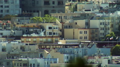ECU City Pan SF Nob Hill North Side Stock Footage