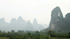 Landscape of Guilin at early morning Stock Footage