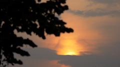Beautiful sunset in Bucharest Stock Footage