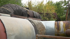 Old pipelines in Bucharest Stock Footage