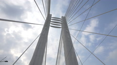 Basarab Overpass's metal structure in Bucharest Stock Footage