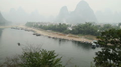 Landscape of Li River Stock Footage