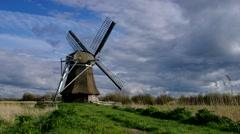 Windmill Wedelfeld in Germany Stock Footage