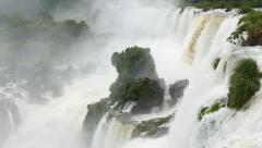 Iguassu(Iguazu) Falls located at the Brazilian and Argentinian border - stock footage