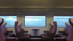 Travelling in the fast train Stock Footage
