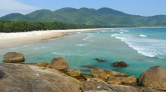 Lopes Mendes. Beautiful beach of the Ilha Grande island, Rio do Janeiro, Brazil. Stock Footage