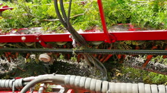 Agricultural machinery for harvesting of carrots - stock footage