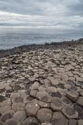 Giant's Causeway volcanic formations - stock photo