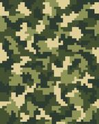 digital green camouflage - stock illustration
