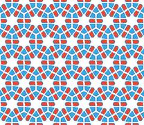 Stock Illustration of hexagonal stylized snowflakes pattern
