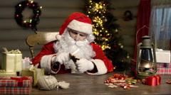 Handy Santa Stock Footage