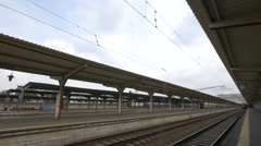 The Bucharest North Railway Station's platforms Stock Footage