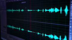 Waves audio sound editing, volume Stock Footage