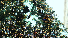Defocusing christmas tree with nice colors and lights Stock Footage