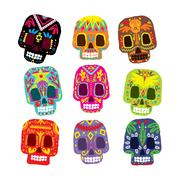 Mexico flowers, skull elements. Vector illustration - stock illustration