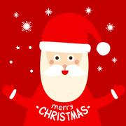 Christmas holiday card with Santa Claus Piirros