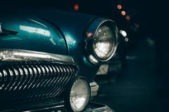 Stock Photo of Headlight of old car
