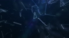 Abstraction composition with lines and dotes: Flying in space Stock Footage