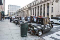 Police vehicles in Manhattan - stock photo