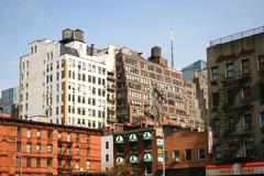 Residential buildings in Manhattan - stock photo