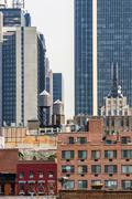 Buildings in Midtown Manhattan - stock photo