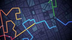 GPS Navigation, Localization. Seamless loop. Stock Footage
