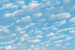 White cumulus clouds Stock Photos