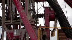 Drilling rig. Oilfield Industry - stock footage