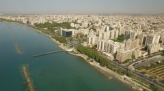 Aerial shot of Paphos city in Cyprus Stock Footage