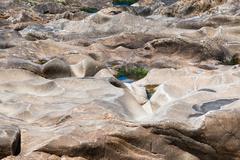 Surface of a marine stone Stock Photos
