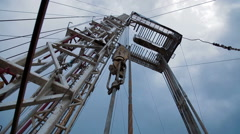 Gas Oil drilling - Oilfield Industry - stock footage