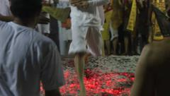 Firewalking with Statue Stock Footage