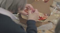 People enjoying eating Lobster Stock Footage