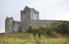 Dunguire castle during summer season in county Galway Stock Photos