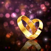 Romantic background with wedding rings Stock Illustration