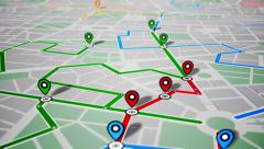 GPS Navigation, Localization. Seamless loop. Stock Footage