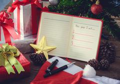 New Year Resolution, Empty list - stock photo