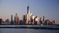 USA, New York, Manhattan, Hudson River, Freedom Tower - stock footage