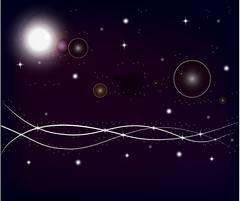 Outer space planets. Piirros